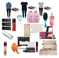 """""""Going on vacation"""" by x-bieber-ol-x on Polyvore featuring Monki, Organix, The Wet Brush, Victoria's Secret, Under One Sky, Panasonic, Maybelline, NARS Cosmetics, MAC Cosmetics and NYX"""