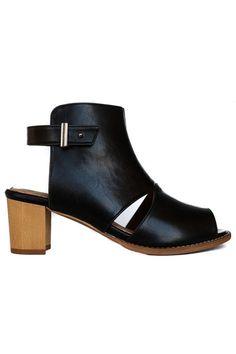 Vegan Summer Shoes: Alden Cut-Out Bootie | Bhava | Available at beadandreel.com #vegan #ecofriendly