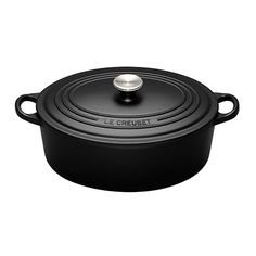 Le Creuset  Cast Iron Oval French Oven Satin Black 29cm