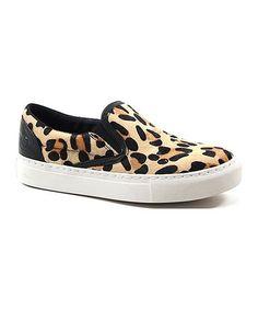 Look what I found on #zulily! Leopard Kork Kee Leather Slip-On Sneaker #zulilyfinds