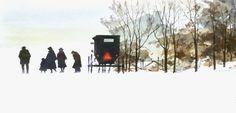 winter -watercolour