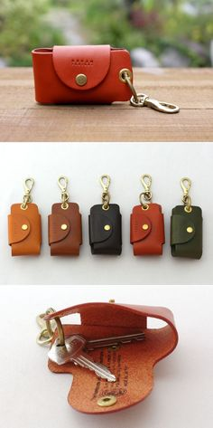 Metal lever snaps in variety of finishes for finely made leather keyholders.