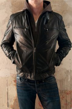 Gipsy Biko W09BT0 Black Cowhide Mens Leather Jacket back in stock...