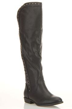 Faux leather (pvc-free) Margaret-88 knee high Boots In Black - Flash #Sale! only $14.99