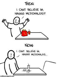 Going To Mcdonalds Then And Now--I'd feel  like this even if I won the grand prize in their latest sweepstakes.  How excited can anyone get over this food???