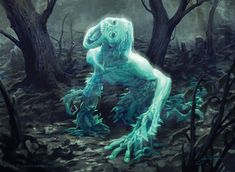 e621 blue_body dark_theme deformed ghost humanoid jason_chan magic_the_gathering male not_furry official_art open_mouth solo spirit tree wizards_of_the_coast