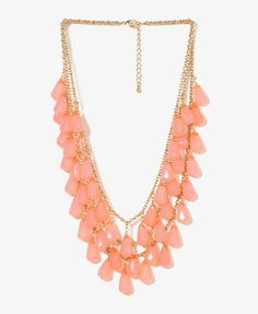 Teardrop Bead Necklace   FOREVER21 - 1000015118