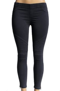 Beulah Women's Ankle Zip Moto Pant Medium Midnight Blue *** This is an Amazon Affiliate link. Be sure to check out this awesome product.