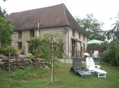 Long term rental to let in Thiviers, France : Cherry Tree Barn is renovated barn with a pool and has wonderful views over fields. Barn Renovation, French Property, Aquitaine, Cherry Tree, Fields, Places To Go, Shed, Outdoor Structures, France