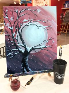 Pour a glass of wine, pull up a chair and get cozy with a paintbrush.  #DateNight +=    Find this event: https://pwat.art/2jdiQTU