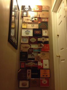Cigar box wall art assemblage collage