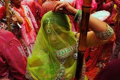 """""""I wanted to share how colors are such an integral form of our existence,"""" says Vineet Vohra (@vineet_vohra) of this portrait from Holi celebrations in Barsana, India. """"The joy is how this event is celebrated year after year. This woman is newly married, and it's her first experience at this event.""""  Follow along as we feature more of our favorite moments from #TheWeekOnInstagram.  Photo by @vineet_vohra"""