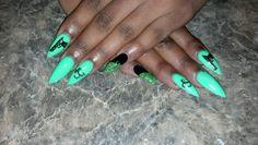 Green stilleto