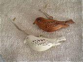 Duo d'oiseaux à suspendre-decoration de campagne-Chehoma