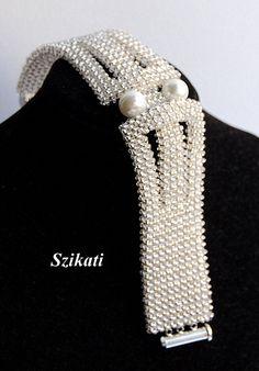 ENVÍO GRATIS Blanco perla/semilla grano declaración por Szikati
