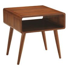 Retro Modern Brown Square End Table Zebra Style Living Room Side Accent New Gift