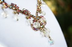 Vintage Rhinestone Cha Cha Necklace 1950s by wimpyren on Etsy, $65.00