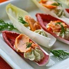 Neufchatel and Smoked Salmon Endive Boats
