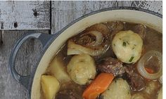 Gluten-free beef stew with wasabi and chive dumplings recipe
