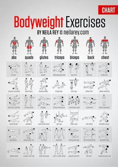 Body Weight Exercises                                                                                                                                                                                 Mais
