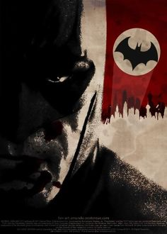 Love the red! The presentation of the bat-signal on the red backdrop invokes a couple of thoughts... The torn red banner, white circle and black bat... In a knee jerk reaction makes you think that the artist of this image is either a closet Nazi or they are saying Batman is. Either way, I like this picture!