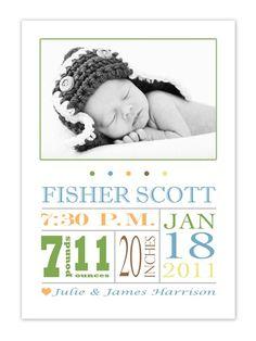 Birth announcement @Naomi Gilby