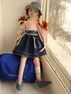 Купить Кукла Пеппилотта - белый, кукла, кукла ручной работы, подарок, купить подарок
