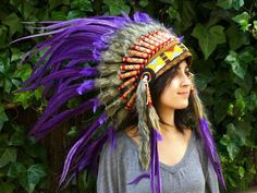 Inspired by Native American Indian headdress. The color of the feathers are awesome!