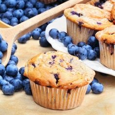 Muffins with blueberries (recipe, dessert, recipes)
