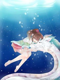 Haku y Chihiro #ElViajedeChihiro #Amor
