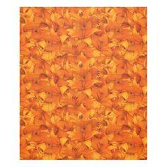 Flower Photo Orange Garden Lilies Fleece Blanket