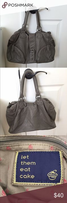 Cute Urban outfitters gray bag Let them eat Cake! Let them eat cake bag! super soft vegan leather, excellent condition, never used Urban Outfitters Bags Shoulder Bags