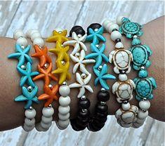 Sea Turtle & Starfish Bracelets