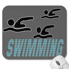 Swimming with Swimmer Mousepad