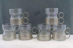 IITTALA GLASS FINLAND TSAIKKA SET OF 6 TODDY GLASSES TIMO SARPANEVA #IITTALA