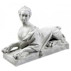 """Victorian Sphinx Sculpture 30"""""""