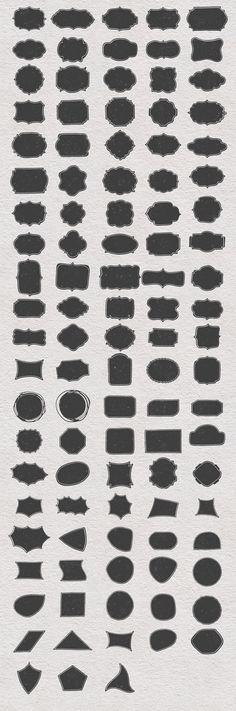 100 Hand Drawn Shapes by DesignWorkz on Creative Market
