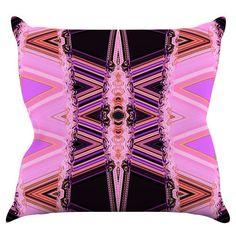 Kess InHouse Nina May Decorama Pink Indoor / Outdoor Throw Pillow - NM1023AOP0