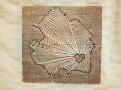 String-art 'Drenthe' van steigerhout | Karin's Deco Atelier