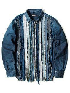 Jeans Outfits – Page 2370837284 – Lady Dress Designs Artisanats Denim, Denim Art, Denim Style, Denim Shirts, Distressed Denim, Jean Rapiécé, Denim Kunst, Denim Vintage, Mode Jeans