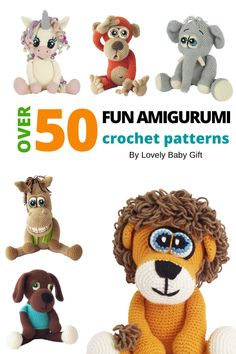 Crochet Patterns For Beginners, Crochet Toys Patterns, Amigurumi Patterns, Stuffed Toys Patterns, Knitting Patterns, Bountiful Baby, Crochet Gifts, Zoo Animals, Crochet Animals