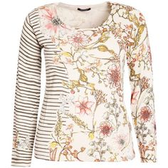 Elena Miro Plus Size Pullover with floral print (€100) ❤ liked on Polyvore featuring tops, sweaters, clearance, cream, long sleeve pullover sweater, long sleeve sweaters, floral top, sweater pullover and long sleeve pullover