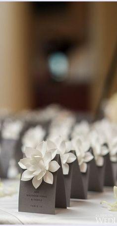 15 Cute Wedding Table Card Ideas – Nina Thornton 15 Cute Wedding Table Card Ideas Complete your spring wedding with these totally cute wedding table cards ideas! Wedding Favor Bags, Wedding Gifts, Indian Wedding Favors, Decor Wedding, Wedding Themes, Card Table Wedding, Wedding Placecard Ideas, Diy Wedding Place Cards, Wedding Table Markers