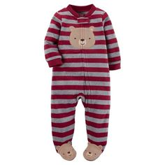 Just One You™Made by Carter's® Baby Boys'  Red Stripe Bear Sleep N' Play : Target