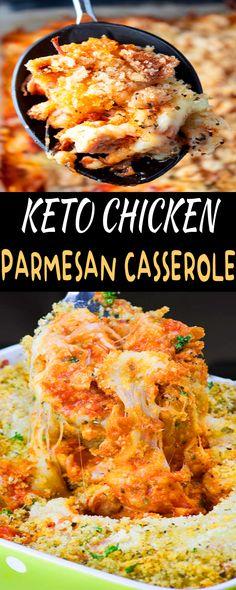 KETO CHICKEN PARMESAN CASSEROLE For dinner recipes, dinner ideas, Chicken recipes easy, Keto Recipes Easy #KETOCHICKENPARMESAN #Chickenrecipe easy #KetoRecipesEasy