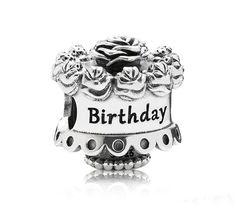 Breloque en argent sterling 925 Bouquet d'anniversaire ** Sur commande **