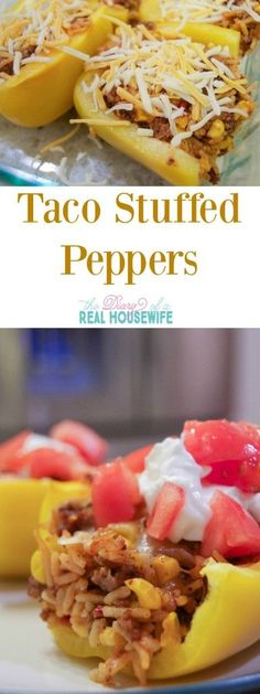 Taco Stuffed Peppers are the perfect weeknight family meal.