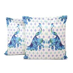 CLASSIC PEACOCK CUSHION COVER - SET OF 2  Buy Here - http://madinindia.in/collections/cushion-covers/products/classic-peacock-cushion-cover-set-of-2 MRP - Rs 950