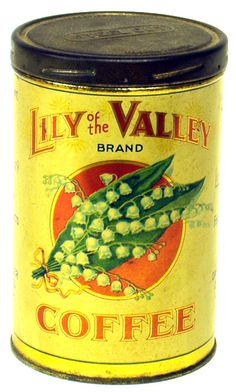 LILY OF VALLEY COFFEE TIN