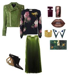 """""""Untitled #78"""" by fashlyfe88 on Polyvore featuring Balmain, Gucci, Lime Crime, Narciso Rodriguez, Nikos Koulis, Chanel and Dolce&Gabbana"""